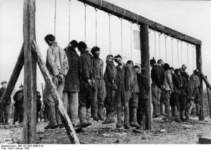 Partisans russes éxecutés par les nazis